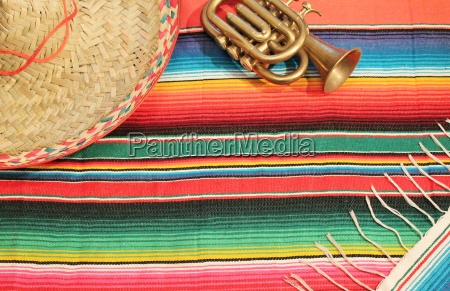 traditional mexican fiesta poncho rug in