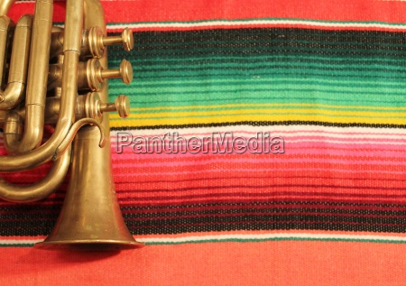 poncho serape mexico trumpet background