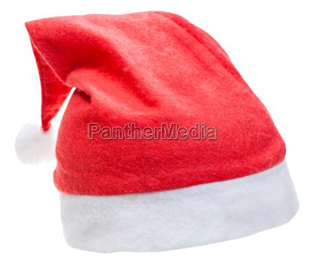 typisch roten hut santa claus auf