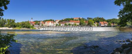 panoramic view town landsberg am lech