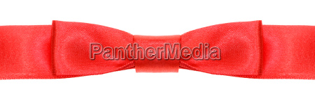symmetric red bow knot on wide
