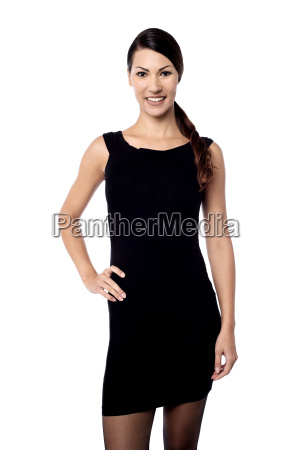 stylish woman posing to camera