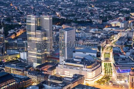 city center of frankfurt main at