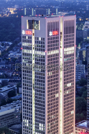 ubs bank hochhaus in frankfurt am