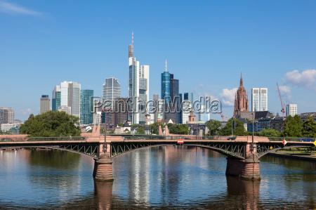 skyline, von, frankfurt, am, main, hessen, deutschland - 14475211