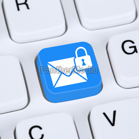 computer concept encrypted secure e mail
