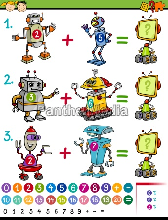 cartoon math education game