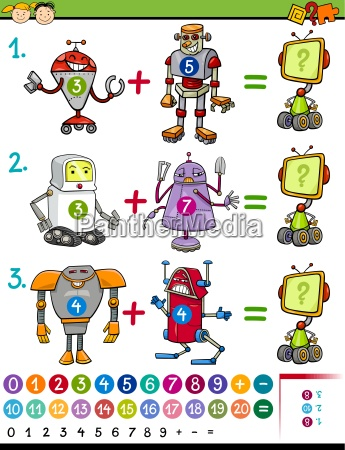 cartoon mathematical education game
