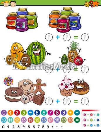 mathematical game cartoon illustration