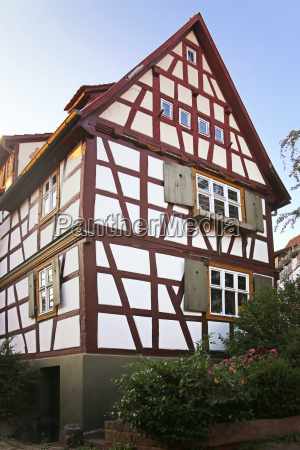 half timbered house on the dilsberg