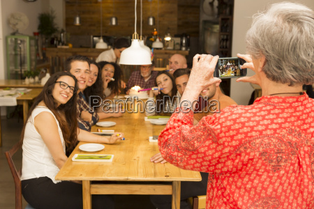 granny taking a picture of all