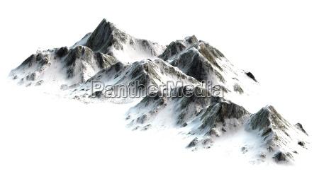 verschneite berge berggipfel auf