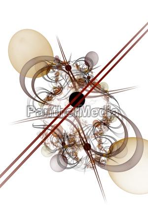 kugel auf linien und kurven mit