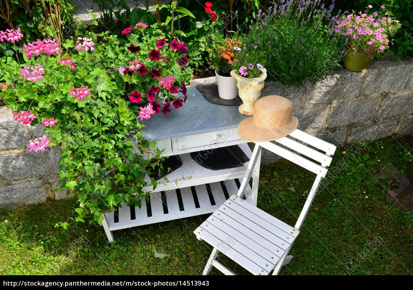 Garten Sommer Möbel Stockfoto 14513943 Bildagentur Panthermedia