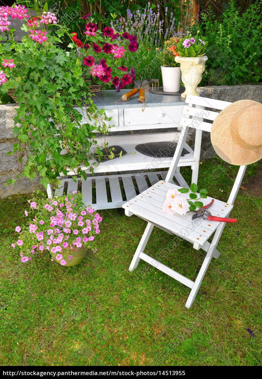 Garten Sommer Möbel Stockfoto 14513955 Bildagentur Panthermedia
