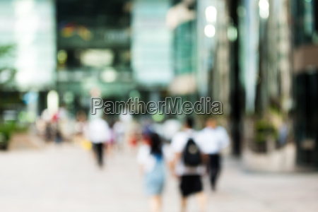 blur view of business district background