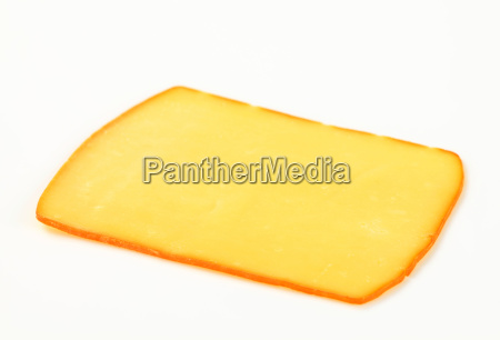 slice of smoked cheese