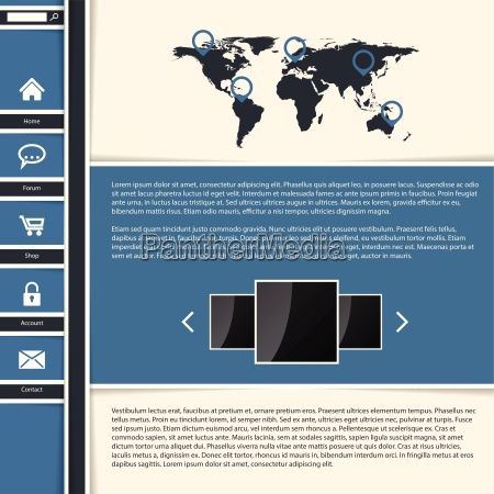 cool blue website template design