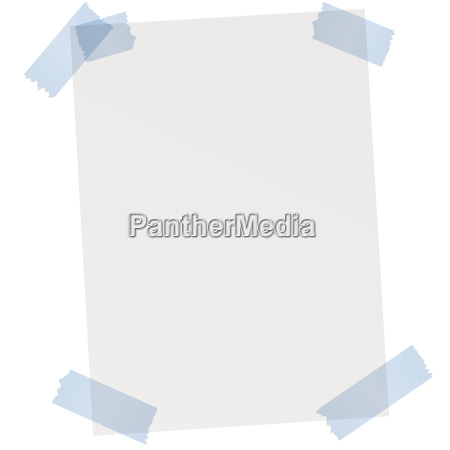 empty sheet of paper with adhesive