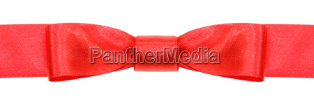 symmetrical red bow knot on wide