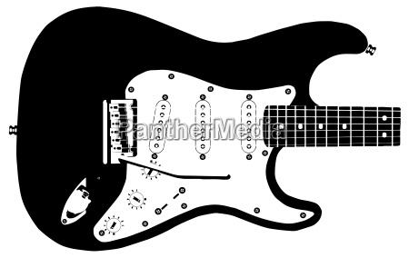 gitarren zeichnung