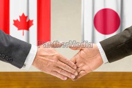 representatives canada and japan join hands