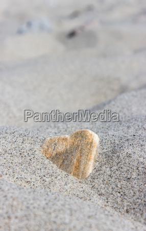 stone in heart shape in the