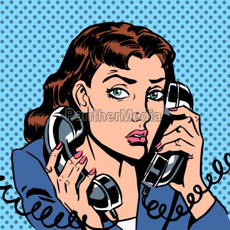 mittwoch maedchen das auf zwei telefone