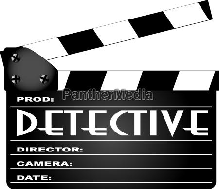 detektiv film clapperboard