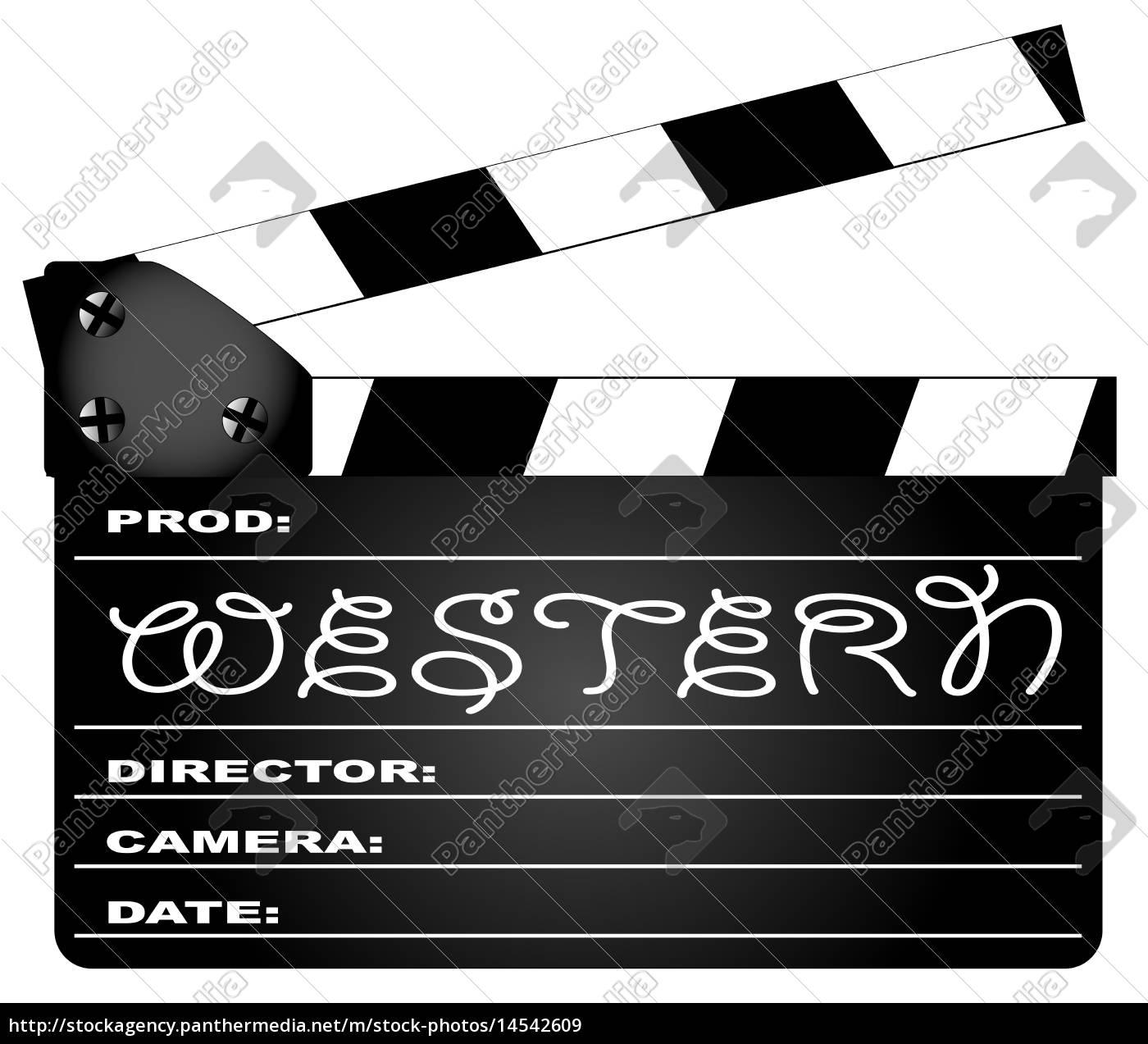 western, movie, clapperboard - 14542609