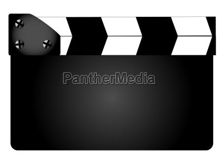 blank film clapperboard