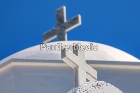 cross on santorini