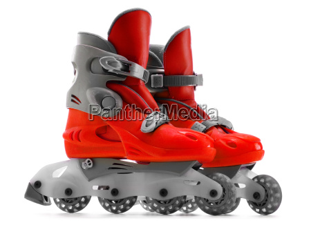 a pair of inline skates isolated