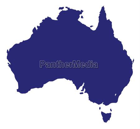 australien silhouette