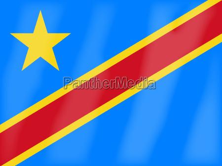 flagge der demokratischen republik kongo