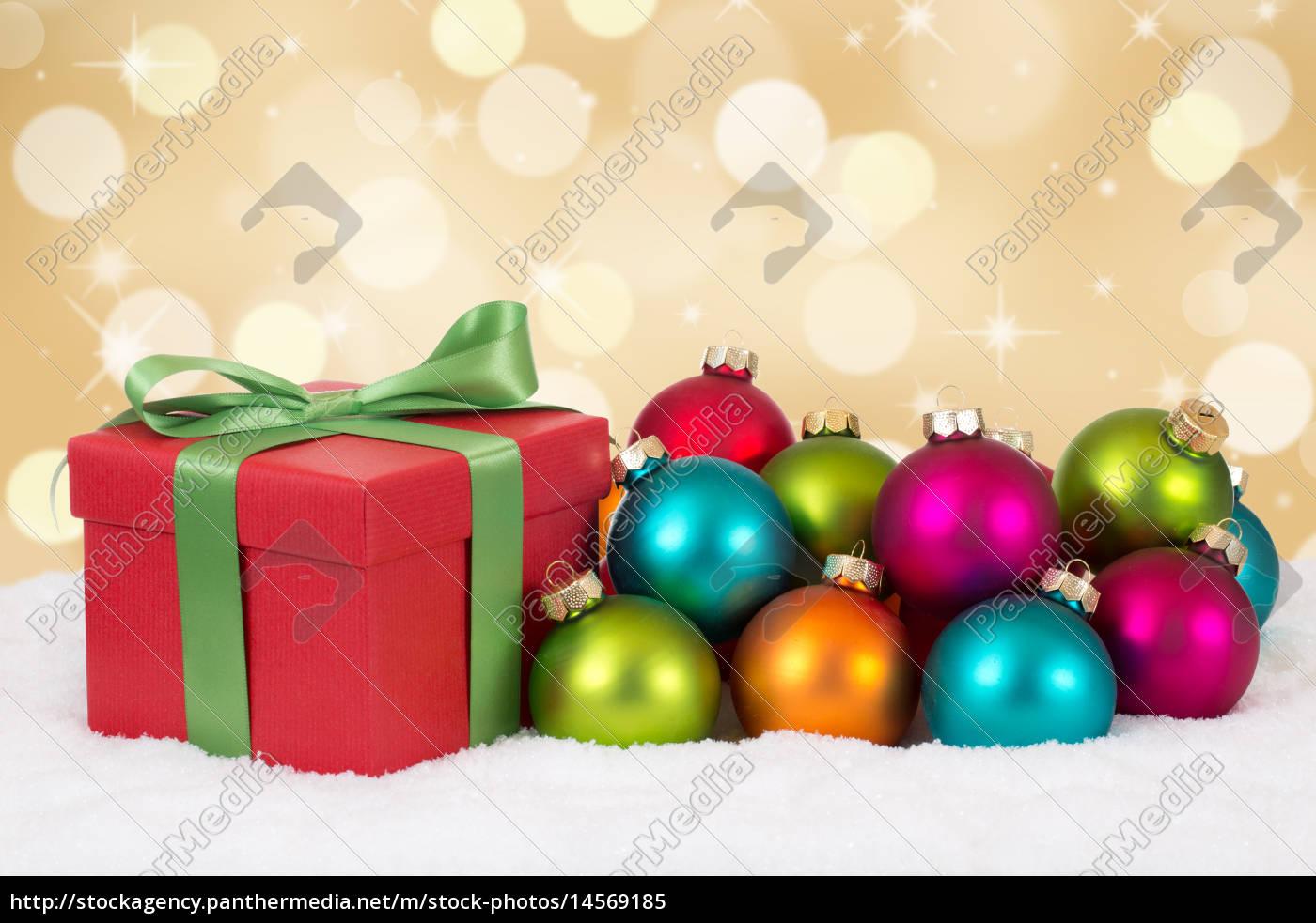 Weihnachtsgeschenke Geschenke an Weihnachten mit - Stockfoto ...