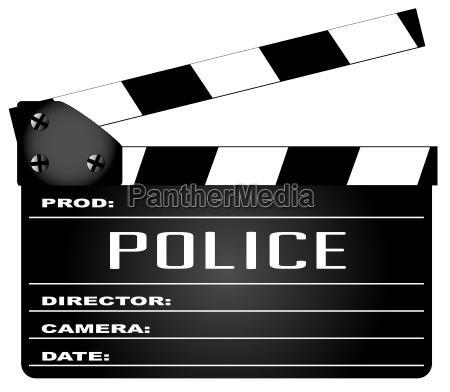 polizei clapperboard