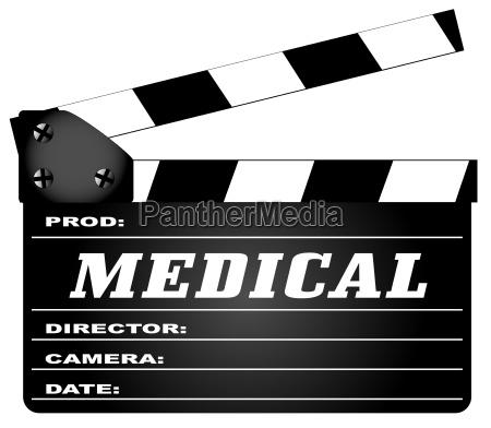 medical clapperboard