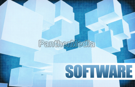 software on futuristic abstract