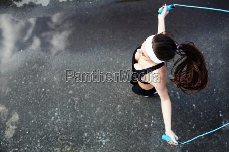 sportlich springen