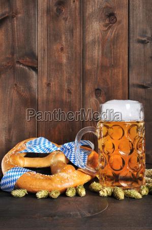bavarian oktoberfest beer with beer
