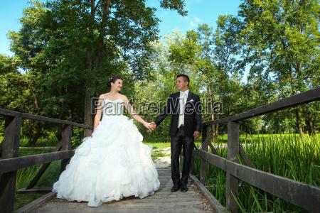 wedding photo of newlyweds