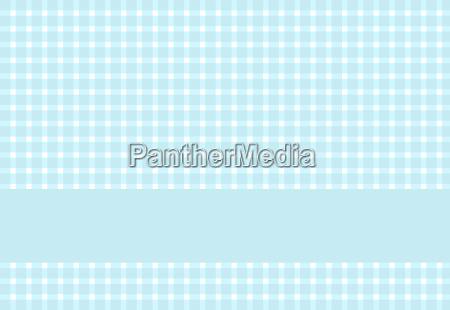 tischdeckenmuster hellblau mit textstreifen