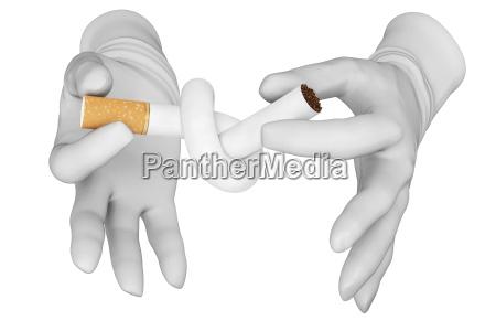 hands knot cigarette