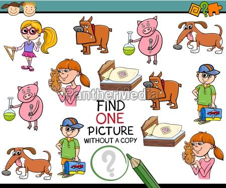 find one picture kindergarten task