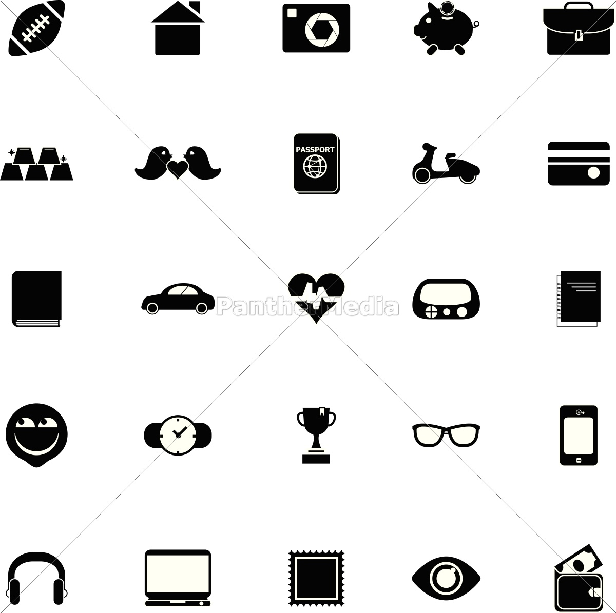 persönliche, datensymbole, auf, weißem, hintergrund - 14600419