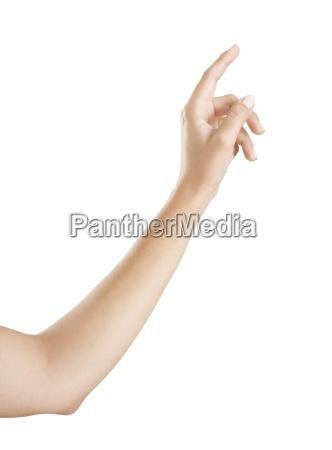 finger zeigt auf etwas