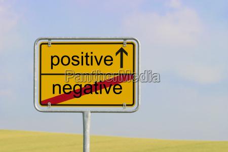 zeichen negativ positiv
