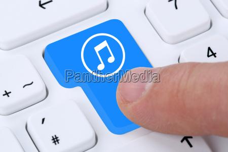computer konzept musik hoeren downloaden streaming