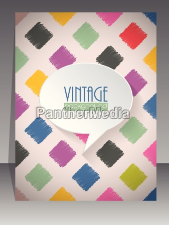 coole retro scrapbook cover design